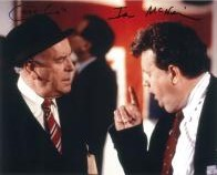 Ian McNeice & George Cole - Genuine Signed Autograph 7777