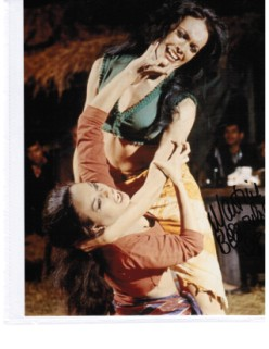 Aliza Gur Martine Beswick Gypsy http://www.tenthplanetevents.co.uk/martine-beswick-hammer-horror-bond-girl-one-million-years-bc-5734-p.asp