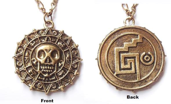 Pirates of the caribbean aztec necklace fashion design replica prop mozeypictures Images