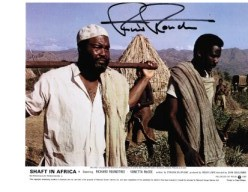"Richard Roundtree star of ""Shaft in Africa"" lobby card"