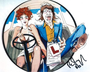 Robin Askwith hand signed autograph #13