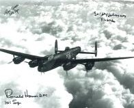 Ron Green, Ronald Holmes &  Johnny Johnson (WW2 Pilots) - Genuine Signed Autograph 7733