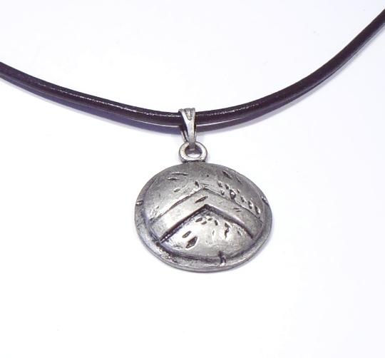 shield pendant 300 spartan warrior necklace