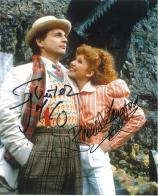 Sylvester McCoy & Bonnie Langford (Doctor Who) - Genuine Signed Autograph 6799