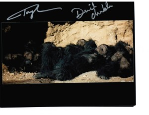 2 autographs from the film 2001 a space odyssey hand signed