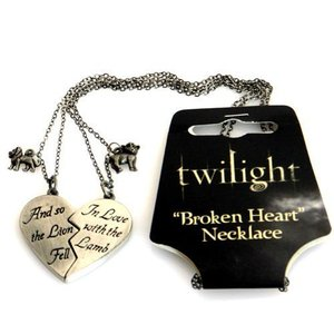 Twilight BROKEN HEART NECKLACE Lion and Lamb New Moon Necklace