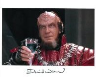 David Warner - Star Trek, Genuine Signed Autograph 10x8, 5569