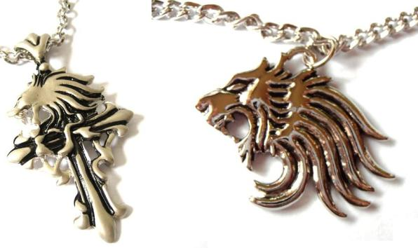 Final fantasy gothic squall griever and final fantasy squall s lion final fantasy gothic squall griever and final fantasy squalls lion heart necklace set of 2 aloadofball Image collections