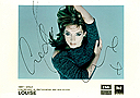 Louise Rednapp - Singer signed postcardSigned 10 x 8 Photograph. 
