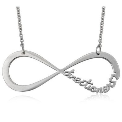 One Direction Stunning Necklace In Silver Alloy With An Infinity