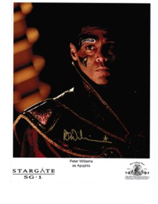"Peter Williams ""Apophis from Stargate SG-1 hand signed autograph"