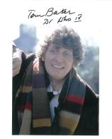 Tom Baker 4th Doctor DOCTOR WHO  Genuine Signed Autograph 10 X 8 COA 7050