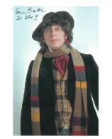 Tom Baker 4th Doctor DOCTOR WHO  Genuine Signed Autograph 10 X 8 COA 7051